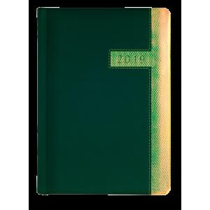SUPERNOVA * A5 dzienny  ZIELONY / LIMONKOWO-ZŁOTY HOLO kalendarz książkowy