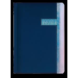 SUPERNOVA * A5 dzienny  GRANATOWY / NIEBIESKO-RÓŻOWY HOLO kalendarz książkowy