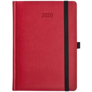 ZIGGO * A5 dzienny CZERWONY / SZARY kalendarz książkowy