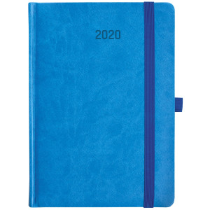 ZIGGO * A5 dzienny NIEBIESKI / GRANATOWY kalendarz książkowy