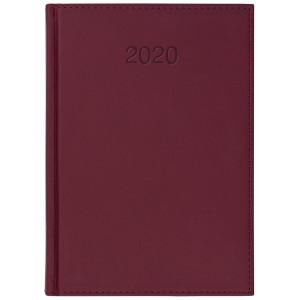 VIVO * A5 dzienny z registrem BORDO kalendarz książkowy