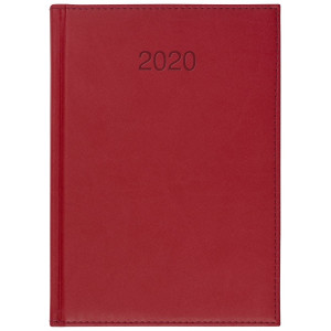 VIVO * A5 dzienny z registrem CZERWONY kalendarz książkowy
