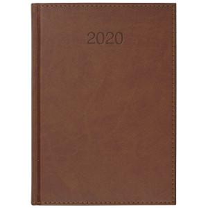 VIVO * A5 dzienny z registrem JASNOBRĄZOWY kalendarz książkowy