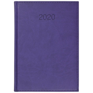 VIVO * A5 dzienny z registrem FIOLETOWY kalendarz książkowy