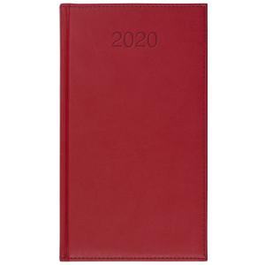 VIVO * A6 tygodniowy CZERWONY kalendarz książkowy
