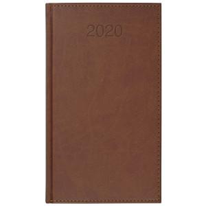 VIVO * A6 tygodniowy JASNOBRĄZOWY kalendarz książkowy