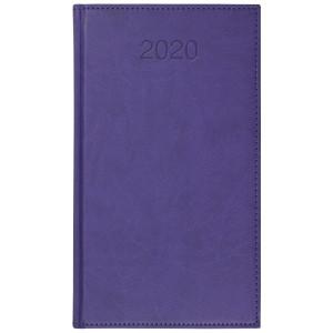 VIVO * A6 tygodniowy FIOLETOWY kalendarz książkowy