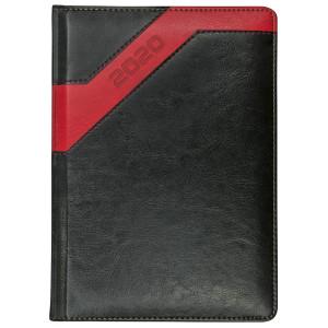 COMBO * A4 dzienny z registrem CZARNY / CZERWONY kalendarz książkowy