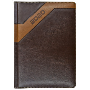 COMBO * A4 dzienny z registrem BRĄZOWY / JASNOBRĄZOWY kalendarz książkowy