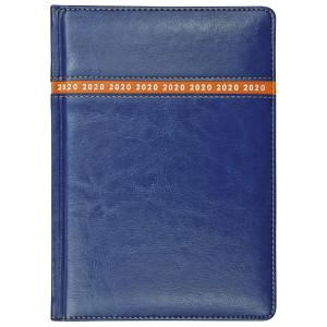 COMBO * A4 dzienny z registrem GRANATOWY / POMARAŃCZOWY kalendarz książkowy
