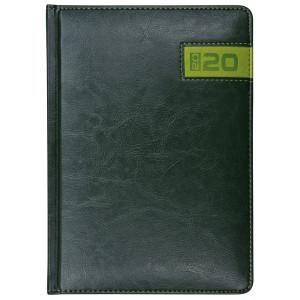 COMBO * A4 dzienny z registrem CIEMNOZIELONY / ZIELONY kalendarz książkowy