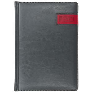 COMBO * A4 dzienny z registrem SZARY / CZERWONY kalendarz książkowy