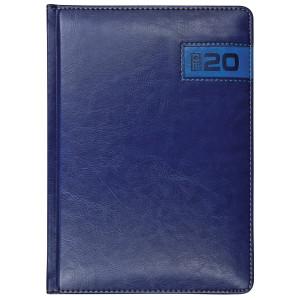 COMBO * A4 tygodniowy z registrem GRANATOWY / NIEBIESKI kalendarz książkowy