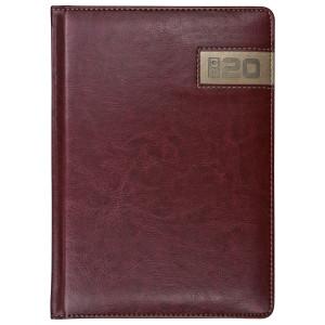 COMBO * A6 tygodniowy z registrem BORDOWY / MIEDZIANY kalendarz książkowy