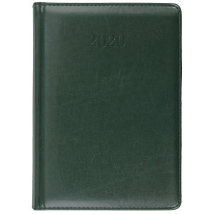 ELITE * A4 dzienny z registrem ZIELONY kalendarz książkowy
