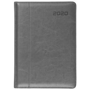 NEVRO * A4 dzienny z registrem SZARYkalendarz książkowy