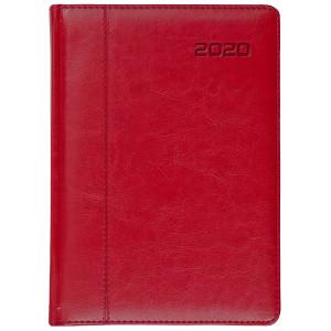 NEVRO * A4 dzienny z registrem CZERWONYkalendarz książkowy
