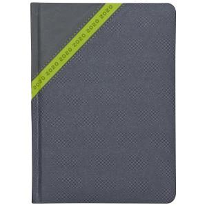 STARDUST * A4 tygodniowy  GRAFITOWY / ZIELONY kalendarz książkowy