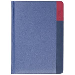 LUNA * A5 dzienny  GRANATOWY / GRANATOWY / CZERWONY kalendarz książkowy