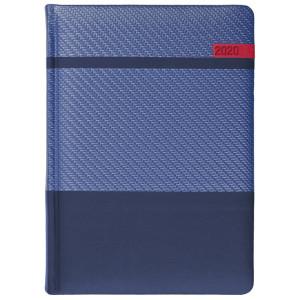 STELLA * A5 dzienny  GRANATOWY / GRANATOWY / CZERWONY kalendarz książkowy