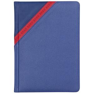 STARDUST * A5 dzienny GRANATOWY / CZERWONY kalendarz książkowy
