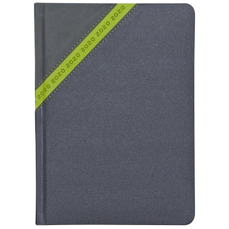STARDUST * A5 dzienny  GRAFITOWY / ZIELONY kalendarz książkowy