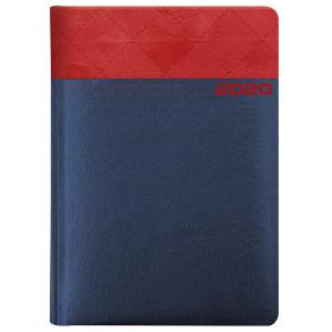 MAGIC LASER * A5 dzienny GRANATOWY / CZERWONY kalendarz książkowy