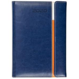 MAGNETO * A5 dzienny z registrem GRANATOWY / BIAŁY / POMARAŃCZOWY kalendarz książkowy