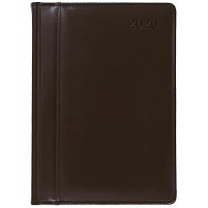 SKÓRA * A4 dzienny z registrem BRĄZOWY kalendarz książkowy