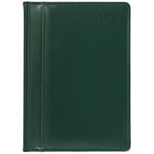 SKÓRA * A4 dzienny z registrem ZIELONY kalendarz książkowy