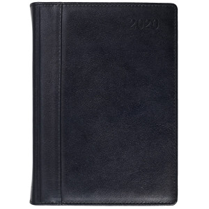 SKÓRA * A4 tygodniowy z registrem CZARNY kalendarz książkowy