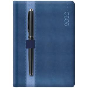 LOOPEN * B5 dzienny  GRANATOWY / NIEBIESKI kalendarz książkowy