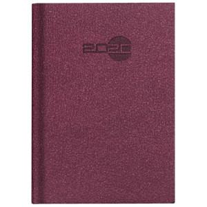 NATURA ALCANTARA * A4 tygodniowy BORDOWY kalendarz książkowy