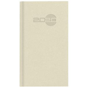 NATURA ALCANTARA * A6 tygodniowy KREMOWY kalendarz książkowy
