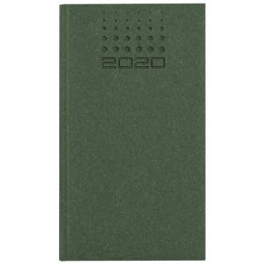 NATURA CLASSIC * A6 tygodniowy ZIELONY kalendarz książkowy