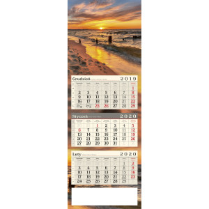kalendarz trójdzielny - ZACHÓD