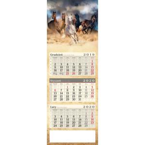 kalendarz trójdzielny - KONIE