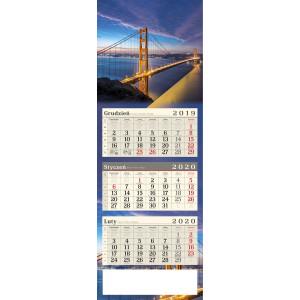 kalendarz trójdzielny - SAN FRANCISCO
