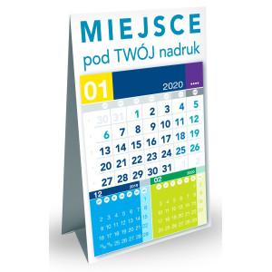 Kalendarz Biurkowy - Stojący - Miesięczny - PIRAMIDKA PIONOWA