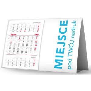 Kalendarz Biurkowy - Stojący - Miesięczny - PIRAMIDKA POZIOMA