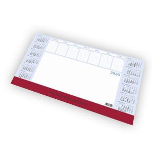 Kalendarz Biurkowy - BIUWAR DUŻY z listwą PCV