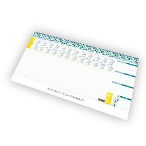 Kalendarz Biurkowy - BIUWAR DUŻY z listwą PCV - 52 kartki