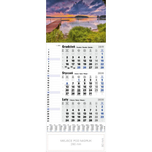 kalendarz jednodzielny - MAZURY