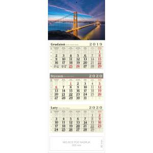 kalendarz trójdzielny - MOST