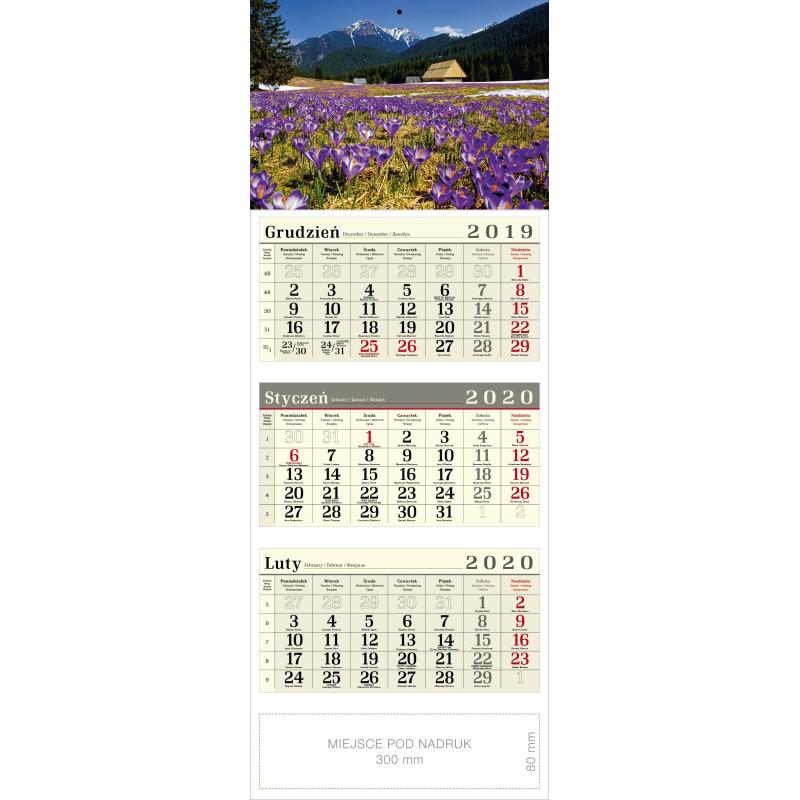 kalendarz trójdzielny - KROKUSY