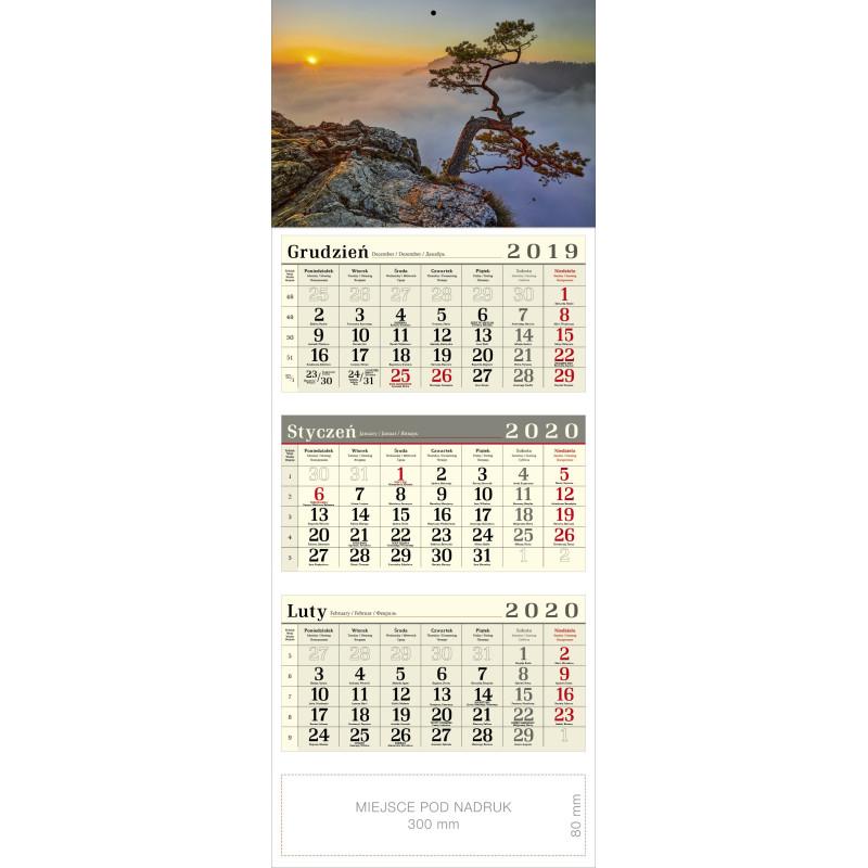 kalendarz trójdzielny - SOSNA