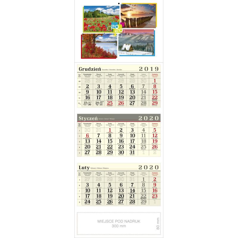 kalendarz trójdzielny - 4 PORY ROKU