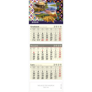 kalendarz trójdzielny - POLSKA