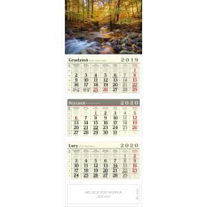kalendarz trójdzielny - LEŚNY POTOK