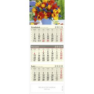 kalendarz trójdzielny - BUKIET
